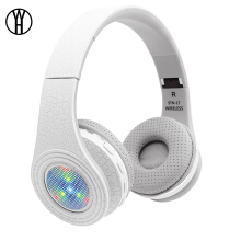 WH STN-17 Bluetooth Headset Glowing LED Big Earphone Head Phone Computer Cordless Wireless Headphone Mic FM TF