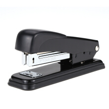 Jantens Desktop Standard Stapler 25 Sheets Capacity Book Sewer Stapling Machine Rotary Reversible Anvil Black