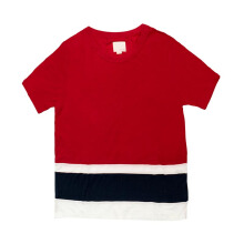 B.O OUTSIDERS Ss Panel Stripe Tee Tango - Red 2 [BOO-SS14-BM1K00260001-RD-2]