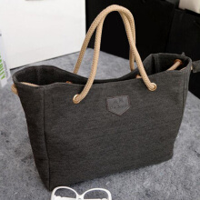 Woman Causual Canvas Bag Single shoulder Bag Hemp Cloth Made