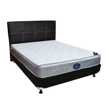 GOOD NIGHT USA Night USA Springbed Plushtop M034 Size 160 x 200 HB Vadia - Full Set - Putih