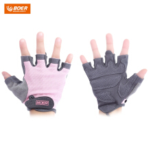 BOER Paired Body Building Fitness Weightlifting Half Finger Gloves for Women