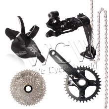 Ltwoo bicycle derailleur MTB AX(11S)1x11 series,Shift Lever,Rear Derailleur,Crankset,Cassette Sprocket,Chain-Carbon black