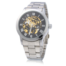 SHENHUA CGX 06 Male Automatic Mechanical Watch Hollow-out Dial Stainless Steel Band Wristwatch STEEL BAND