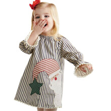 BESSKY Toddler Kids Baby Girls Santa Striped Princess Dress Christmas Outfits Clothes_