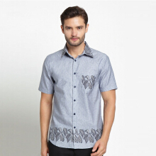 A&D Mens Casual Batik Ms 801 - Grey
