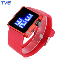 TVG 4G08 Female Fashion LED Digital Multifunctional Watch Calendar Water Resistance Sports Wristwatch