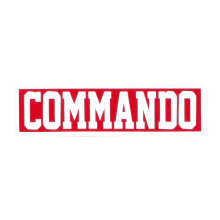 Tactical Series Velcro Patch 2.5 x 9 cm - COMMANDO - Red Red
