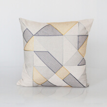 Vivere Cushion Cover Scratch Gray Yellow 45x45 cm