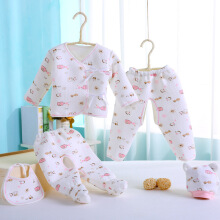 Sunny Ju Warm cotton five pieces of baby  cotton underwear blue