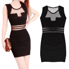 Women Sexy Slim Mini Clubwear Bodycon Evening Party Cocktail Dress Black