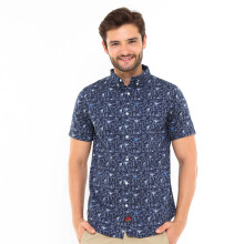 3SECOND Casual Relaxed Shirt - Blue