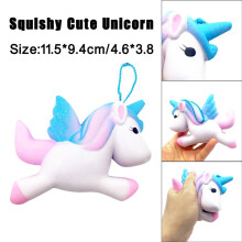 BESSKY Exquisite Fun Cute Unicorn Scented Squishy Charm Slow Rising 11cm Simulation Toy- Blue