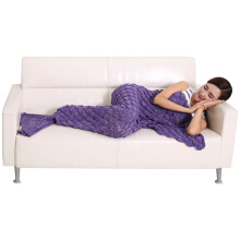 190 x 90cm Solid Color Sofa / Air Conditioner Blanket 190 X 90CM(PURPLE)