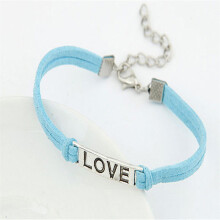 BESSKY Women Men Love Handmade Alloy Rope Charm Jewelry Weave Bracelet Gift _