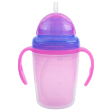 230ml Double Layer Heat Insulation Babies Drinking Bottle with Handles