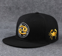 BAI B-207 Adjustable Baseball Cap MBL Hiphop cap with Cancer design black&gold color