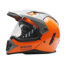 Cargloss Sircon Supermoto Helm Full Face - SM Orange