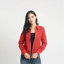 MOBILE POWER Ladies Casual Jacket - Red A7958