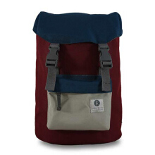 RIDGEBAKE Hook Bag Maroon Blue & Light Grey 1-116-MARBLU - P