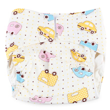 Cartoon Cloth Diaper Cotton Nappy for Babies Little Car