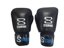 STAMINA ULTIMATE - Genuine Leather Boxing Gloves 8Oz Black