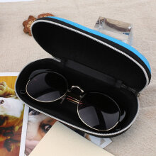 Portable Fiber Zipper Eyewear Case Glasses Sunglass Shell Protector Box