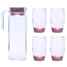 LUMINARC Jug Rotterdam Pink Drink J5828 / J0334 Set of 5 - Pink