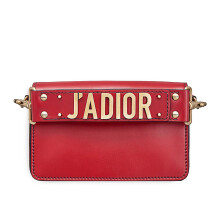 CHRISTIAN DIOR (J'ADIOR) Flap Bag With Shoulder Strap In Red Calfskin [M9001CVQVM40R]