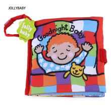 JOLLYBABY 10 Pages Funny Cartoon Animal Character Educational Cloth Book-GOODNIGHT