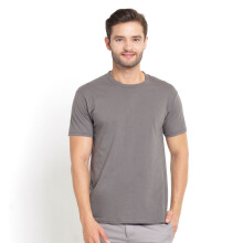 STYLEBASICS Men's Round Neck Basic T-shirt - Charcoal