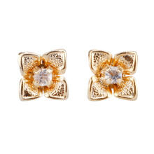 1901 JEWELRY Anting Flower Studs 2076 (Lapis Emas 24K)