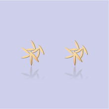 MOORIGIN - Leafy Earrings - Gold (Size XS)
