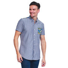 ALINSKIE BROTHERS Mens Fordy Shirt Azura A1034 - Grey