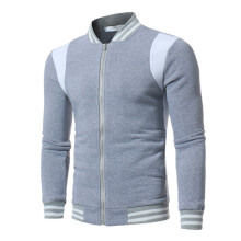 BESSKY Mens Striped Tracksuit Warm Sport Sweatshirt Zipped Coat Cardigan Top_