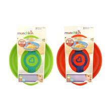 MUNCHKIN White Hot Plates 2pk - Hijau-Orange