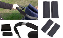 2pcs Baby Stroller Grip Covers Synthetic Rubber Anti Cracking
