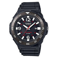 CASIO Water Resistant 100M Resin Band - Black