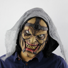Pimp Printed Halloween Decor Mask With Voile Cloth