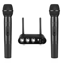 Excelvan K38 Wireless Microphone with Receiver Black