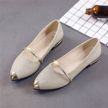 BESSKY Women Pointed Toe Ladise Shoes Casual Low Heel Flat Shoes_