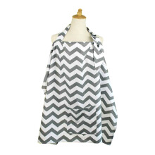 MOOIMOM Breastfeeding Nursing Cover - White Grey