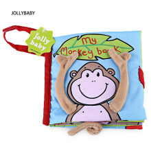 JOLLYBABY 10 Pages Funny Cartoon Animal Character Educational Cloth Book-MONKEY