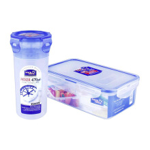 LOCK & LOCK Plastic Container 2P Set with  Color Box(HPL931HS902)