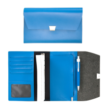 NUDESIGN Agenda with card Wallet & Zipper Pocket AGA05M - Cobalt / 21x3x15cm
