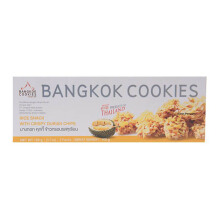 BANGKOK COOKIES Rice Cookies With Crispy Durian Chips 105g