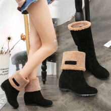 BESSKY  Women's Snow Boots Winter Ankle Boots Women Shoes Boots Fashion Shoes _