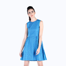 Rianty Batik Dress Wanita Tasha - Blue