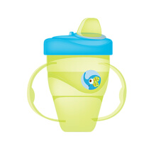 BABY SAFE Cup with Hard Spout 210ml - Green Elephant