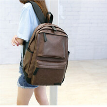 BESSKY Vintage Backpack Travel Leather Handbag Rucksack Shoulder School Bag _